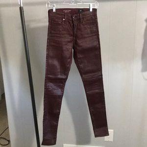AG Jeans Farrah Skinny Leatherette